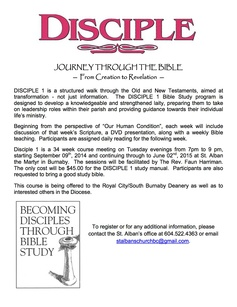 Disciple poster 201420152