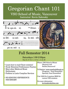 Gregorian chant course poster