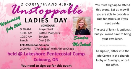 Women's Day at Lakeshore Camp