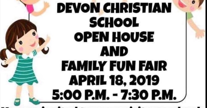Open House and Family Fun Fair April 18 at 5:00 pm