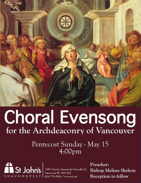 Vancouver Archdeaconry Pentecost Evensong