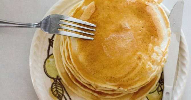 Pancake lunch in Lent