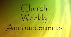 Weekly announcements1