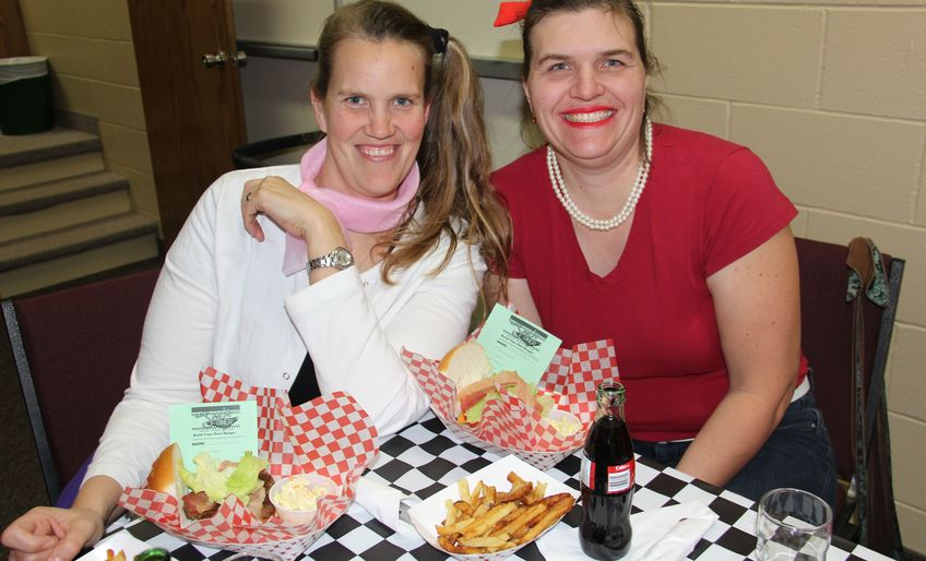 Pictures from 50's Diner - Adult Christmas Dinner