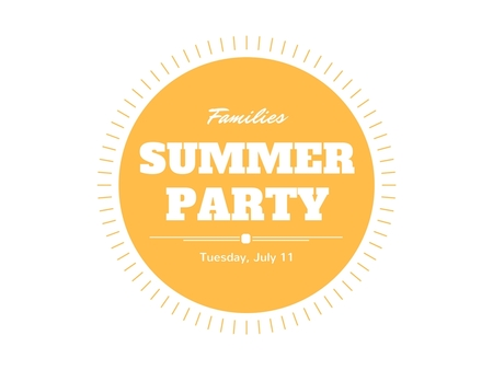 Summer Families Party