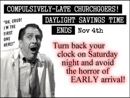 Don't Forget: The Clock Falls Back this weekend!