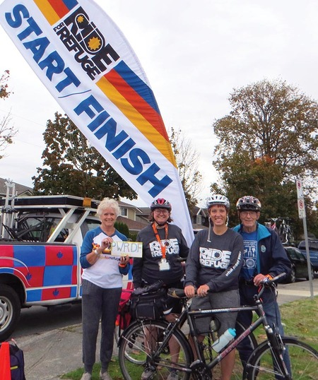 D of NW PWRDF Cyclists Raise $6,720