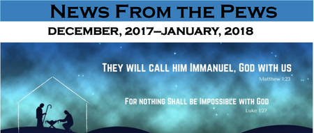 News from the Pews for December and January