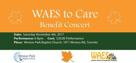 WAES TO CARE - Benefit Concert