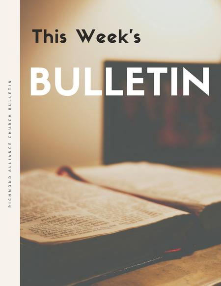 Bulletin - May 13, 2018