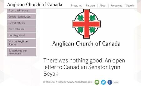 Open letter to Lynn Beyak    (TRC)