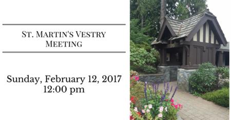 St. Martin's Vestry Meeting