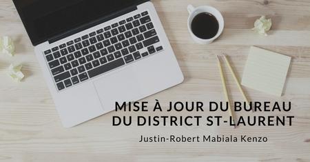 Mise à jour du bureau du district St-Laurent