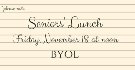 Seniors' BYOL Lunch