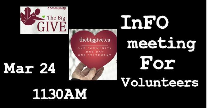 Big Give Volunteer Meeting