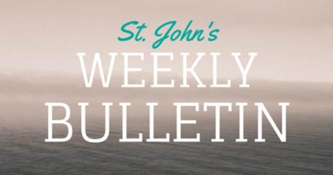 St. John's Weekly Bulletin - September 15, 2019