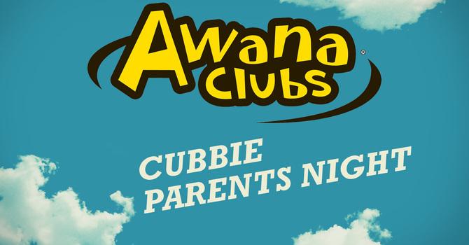 Awana Club: Cubbies Parents Night