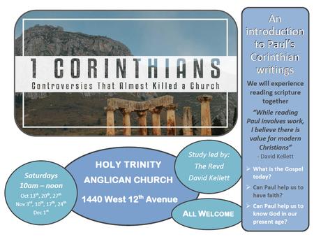 1st Corinthians Study