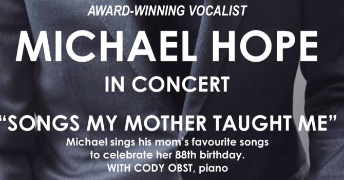 MICHAEL HOPE IN CONCERT