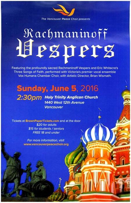 Vancouver Peace Choir Spring Concert