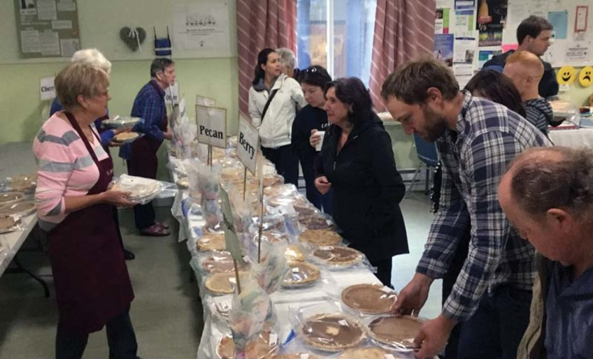 ACW Pie Sale in Sechelt - Huge Success