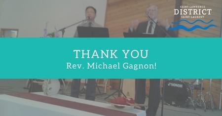Thank You, Rev. Michael Gagnon!