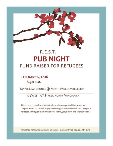 PUB NIGHT Fundraiser for Refugees