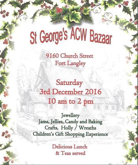 St. George, Ft. Langley ACW Bazaar