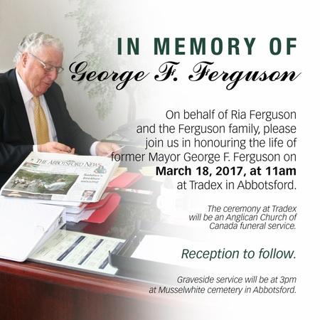 George F. Ferguson Funeral