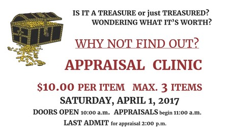 Appraisal Clinic Fundraiser