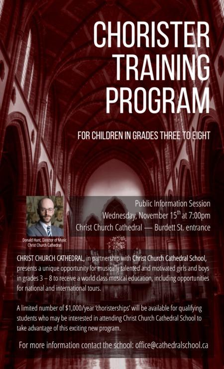 Chorister Program: Public Information Session