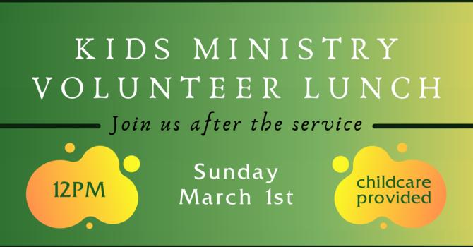 Kids Ministry Volunteer Lunch
