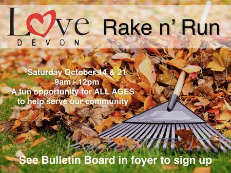 Rake and Run - Love Devon Project