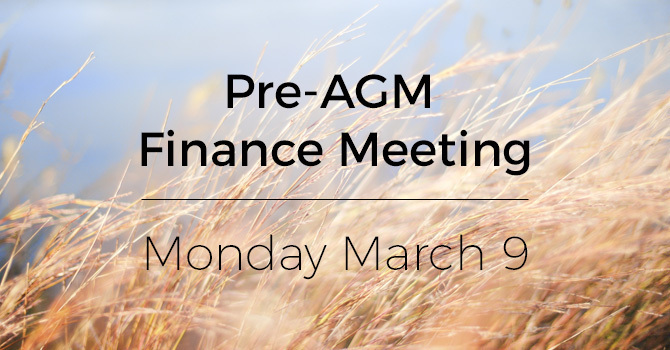 Pre-AGM Finance Meeting