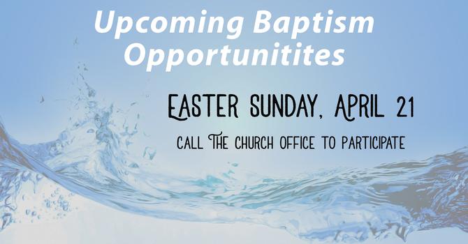 Baptism Opportunities